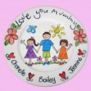 Handpainted Plate - With Love from the Kids